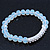 White Mountain Crystal and Swarovski Elements Stretch Bracelet - Up to 20cm Length