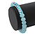 Light Blue Mountain Crystal and Swarovski Elements Stretch Bracelet - Up to 20cm Length - view 2