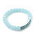 Light Blue Mountain Crystal and Swarovski Elements Stretch Bracelet - Up to 20cm Length - view 5