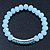 Light Blue Mountain Crystal and Swarovski Elements Stretch Bracelet - Up to 20cm Length