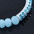 Light Blue Mountain Crystal and Swarovski Elements Stretch Bracelet - Up to 20cm Length - view 6