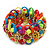 Multicoloured Acrylic Bead, Skull & Chain Flex Bracelet - Up to 19cm length - view 2