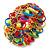 Multicoloured Acrylic Bead, Skull & Chain Flex Bracelet - Up to 19cm length - view 3