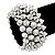 Rock Chick Metallic Polished & Matt Plastic Spike Flex Bracelet - 18cm Length