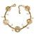 Matt Gold Butterfly, Freshwater Pearl Chain Bracelet - 17cm Length/ 3cm Extension