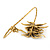 Gold Tone Topaz, Citrine Crystal Spider Palm Bracelet - Up to 19cm L/ Adjustable - view 2