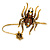 Gold Tone Topaz, Citrine Crystal Spider Palm Bracelet - Up to 19cm L/ Adjustable - view 4