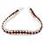 Clear/ Burgundy Red Austrian Crystal Bracelet In Rhodium Plated Metal - 17cm Length
