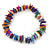 Multicoloured Shell Nugget Stretch Bracelet - up to 19cm