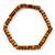 Unisex Brown Wood Bead Flex Bracelet - up to 21cm L