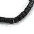 Unisex Black Wood Bead Flex Bracelet - up to 21cm L - view 2