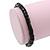 Unisex Black Wood Bead Flex Bracelet - up to 21cm L - view 3