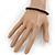 Unisex Black Wood Bead Flex Bracelet - up to 21cm L - view 4