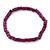 Unisex Purple/ Violet Wood Bead Flex Bracelet - up to 21cm L