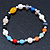 Multicoloured Semi-Precious Stone, Freshwater Pearl and Crystal Bead Flex Bracelets - Set Of 4 Pcs - 18cm L - view 6