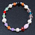 Multicoloured Semi-Precious Stone, Freshwater Pearl and Crystal Bead Flex Bracelets - Set Of 4 Pcs - 18cm L - view 5