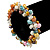 7mm Multicoloured Freshwater Pearl and Transparent Glass Bead Stretch Bracelet - 18cm L - view 3