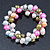 10mm Multicoloured Freshwater Pearl Cluster Stretch Bracelet - 20cm L - view 4
