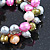 10mm Multicoloured Freshwater Pearl Cluster Stretch Bracelet - 20cm L - view 7