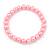 8mm Light Pink Pearl Style Single Strand Bead Flex Bracelet - 18cm L - view 5