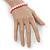 8mm Light Pink Pearl Style Single Strand Bead Flex Bracelet - 18cm L - view 2