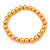 8mm Golden Yellow Pearl Style Single Strand Bead Flex Bracelet - 18cm L - view 5