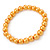 8mm Golden Yellow Pearl Style Single Strand Bead Flex Bracelet - 18cm L - view 1