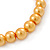 8mm Golden Yellow Pearl Style Single Strand Bead Flex Bracelet - 18cm L - view 4