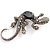 Black Regal Jumbo Lizard Costume Brooch
