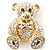 Gold Teddy Bear Costume Brooch