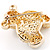 Gold Teddy Bear Costume Brooch - view 3