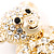 Gold Teddy Bear Costume Brooch - view 2