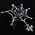 Silver Plated Rhinestone Spider Web Brooch - view 13
