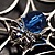 Silver Plated Rhinestone Spider Web Brooch - view 14