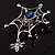 Silver Plated Rhinestone Spider Web Brooch - view 10