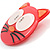 Funky Pink Plastic Cat Brooch - view 2