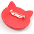 Funky Pink Plastic Cat Brooch - view 3