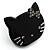 Little Kitty Plastic Brooch (Black) - view 2