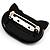 Little Kitty Plastic Brooch (Black) - view 3
