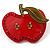 Plastic Crystal Apple Brooch