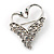 Swan Heart Crystal Brooch (Clear Crystal) - view 1