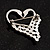 Swan Heart Crystal Brooch (Clear Crystal) - view 4