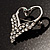 Swan Heart Crystal Brooch (Clear Crystal) - view 5
