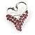 Swan Heart Crystal Brooch (Fuchsia)