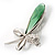 Contemporary Crystal Butterfly Brooch (Green&Clear) - view 5