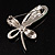 Contemporary Crystal Butterfly Brooch (Green&Clear) - view 8