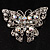 Clear Crystal Filigree Butterfly Brooch - view 3