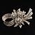 Clear Crystal Bow Corasge Brooch