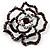 Stunning Violet Crystal Rose Brooch