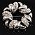 Rhodium Plated Crystal Wreath Brooch